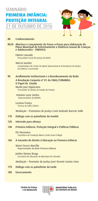 SEMINÁRIO PRIMEIRA INFÂNCIA: PROTEÇÃO INTEGRAL